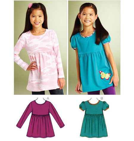Kwik Sew Pattern: K3861 Girls\' Butterfly Tops — jaycotts.co.uk ...