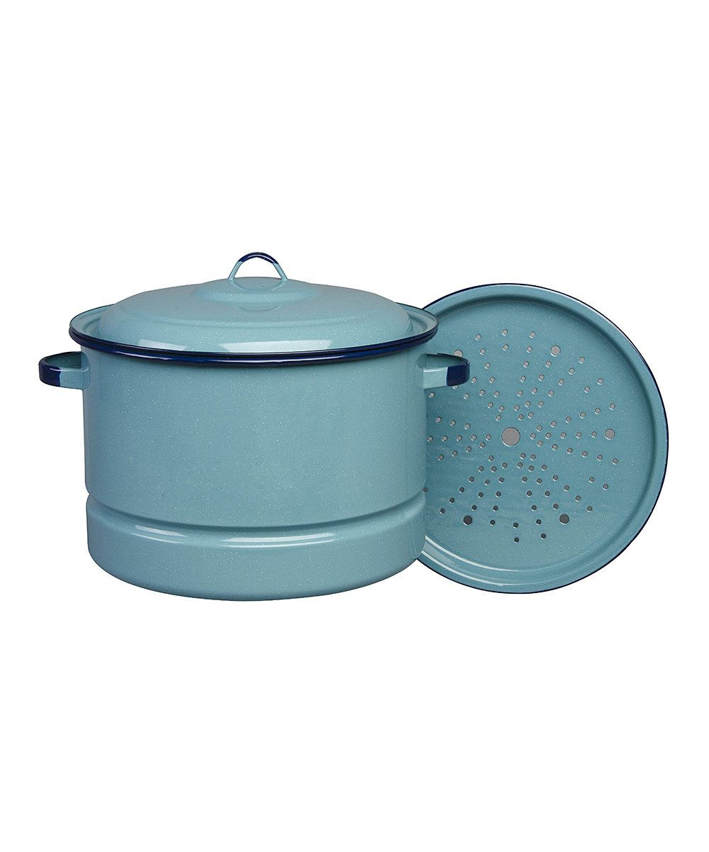 Look at this Turquoise 34-Qt. Steamer Pot Set on #zulily today ...