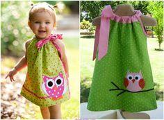DIY Pillowcase Dress Tutorial #Crafts. #Sew, #Clothes