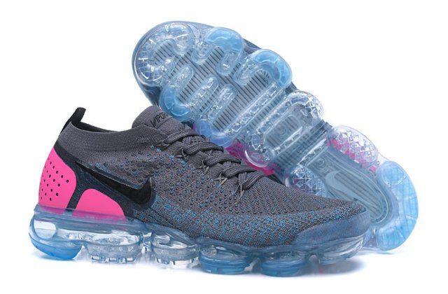 1bad857c1f0c Nike Air VaporMax Flyknit 2. 0 Unisex Running Shoes Dark gray Pink ...