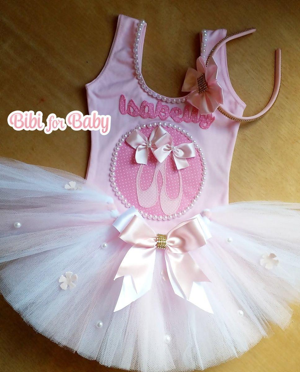 Collant REGATA+ Saia tutu rosa e branco+tiara com strass OPÇÕES ...