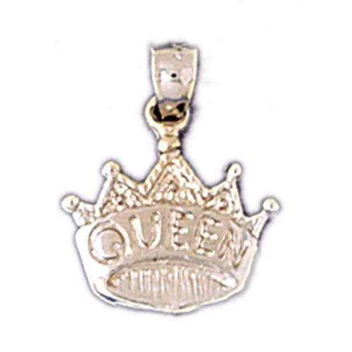 14K WHITE GOLD CROWN CHARM #11177