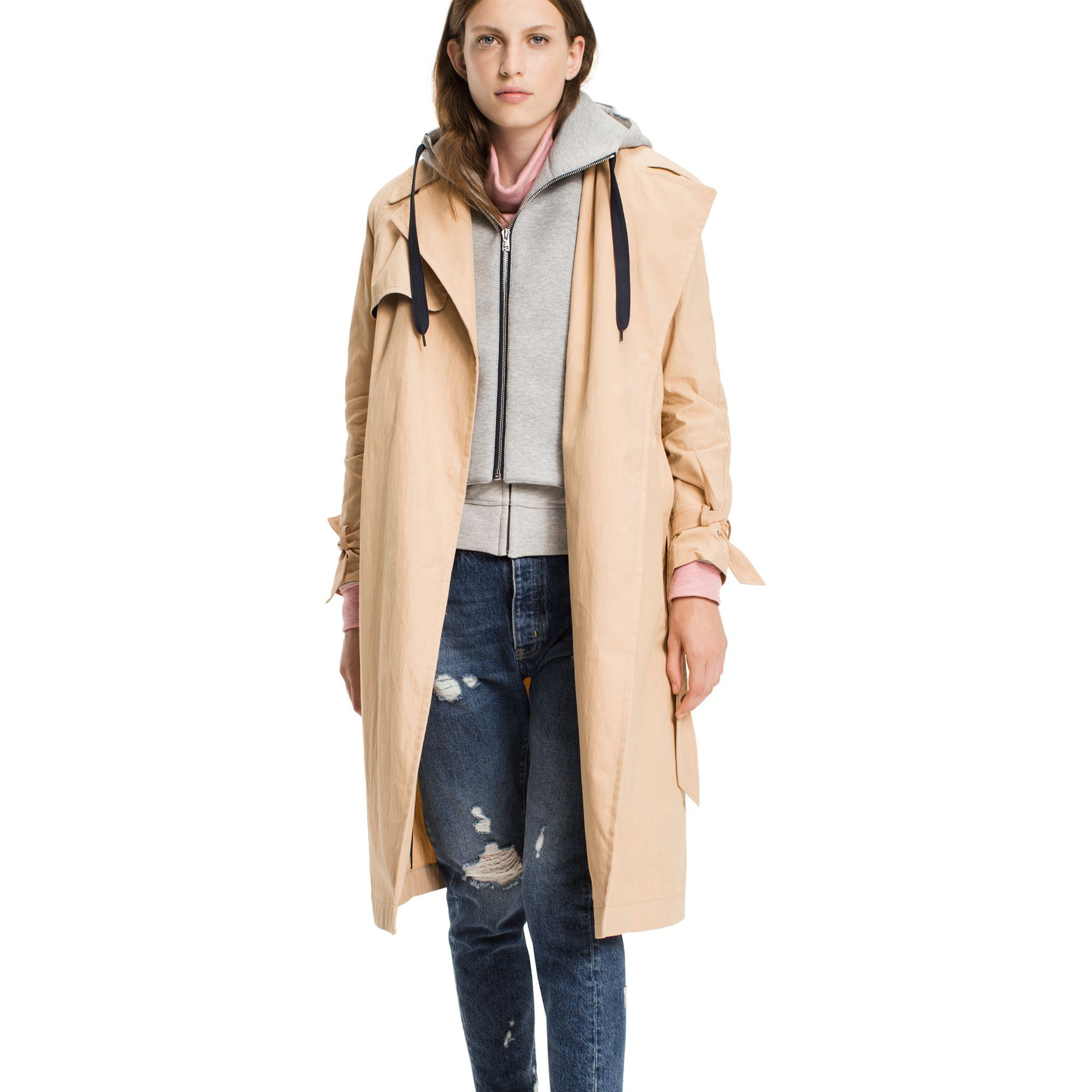 Tommy Hilfiger Removeble Hood Trench Coat Tommyhilfiger Cloth Coat Tommy Hilfiger Trench Coat [ 2000 x 2000 Pixel ]