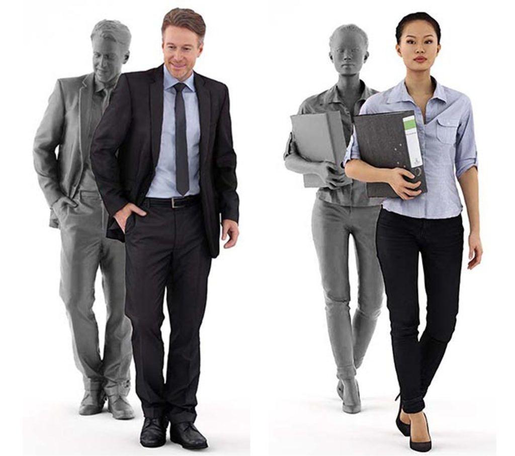 3d Scan Man Woman Free 3d Model Sammlung Bilder