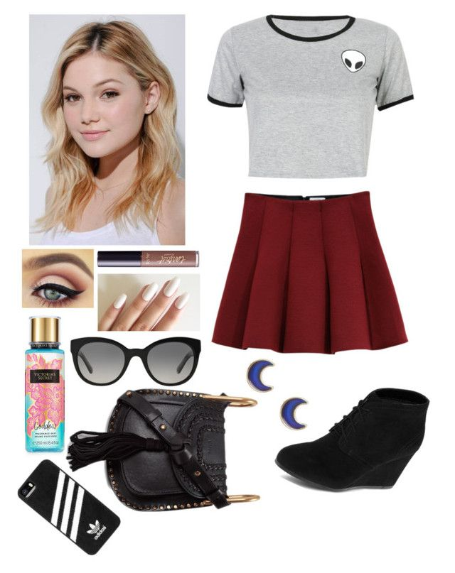 """""""OutFit #187"""" by raphaele-princesa on Polyvore featuring Outstanding Ordinary, Arizona, WithChic, Neutrogena, tarte, Burberry, Chloé, adidas and claire's"""