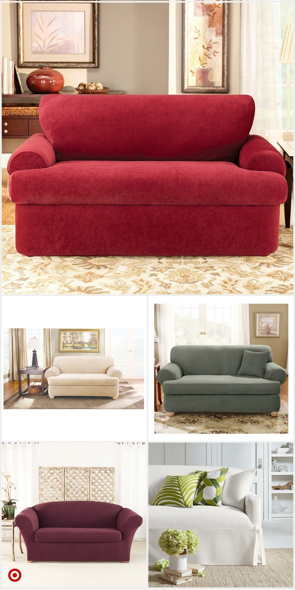 Shop Target For Loveseat Slipcover You Will Love At Great Low Prices Free Shipping On Orders Loveseat Slipcovers Living Room Decor Inspiration Diy Sofa Cover