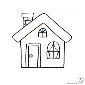 Disegno di casa con camino da colorare disegni da for Casa disegno