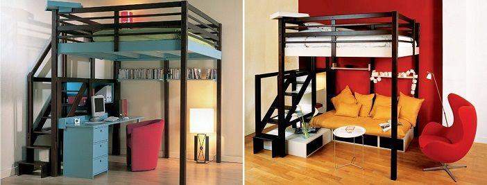 Camas pr cticas para dormitorios peque os diy for Pequeno mueble para dormitorio adulto