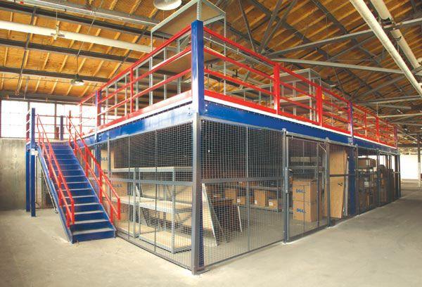 Security Cage Below Steel Mezzanine   Garage in 2019
