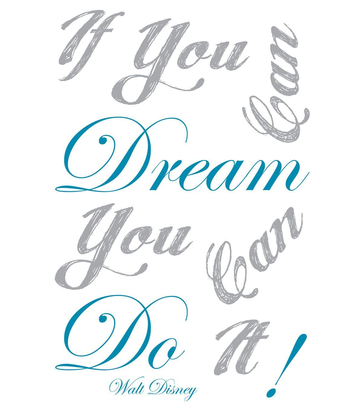 Home Decor If You Can Dream Wall Decal, 10 Piece Set
