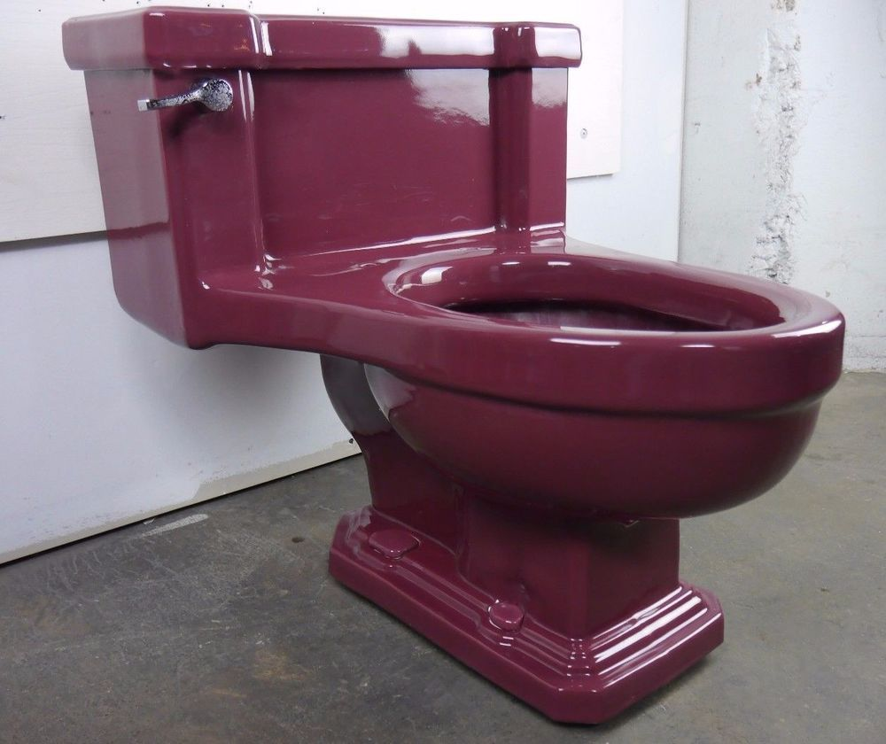 Antique Vintage American Standard T Ang Red Toilet 1940s