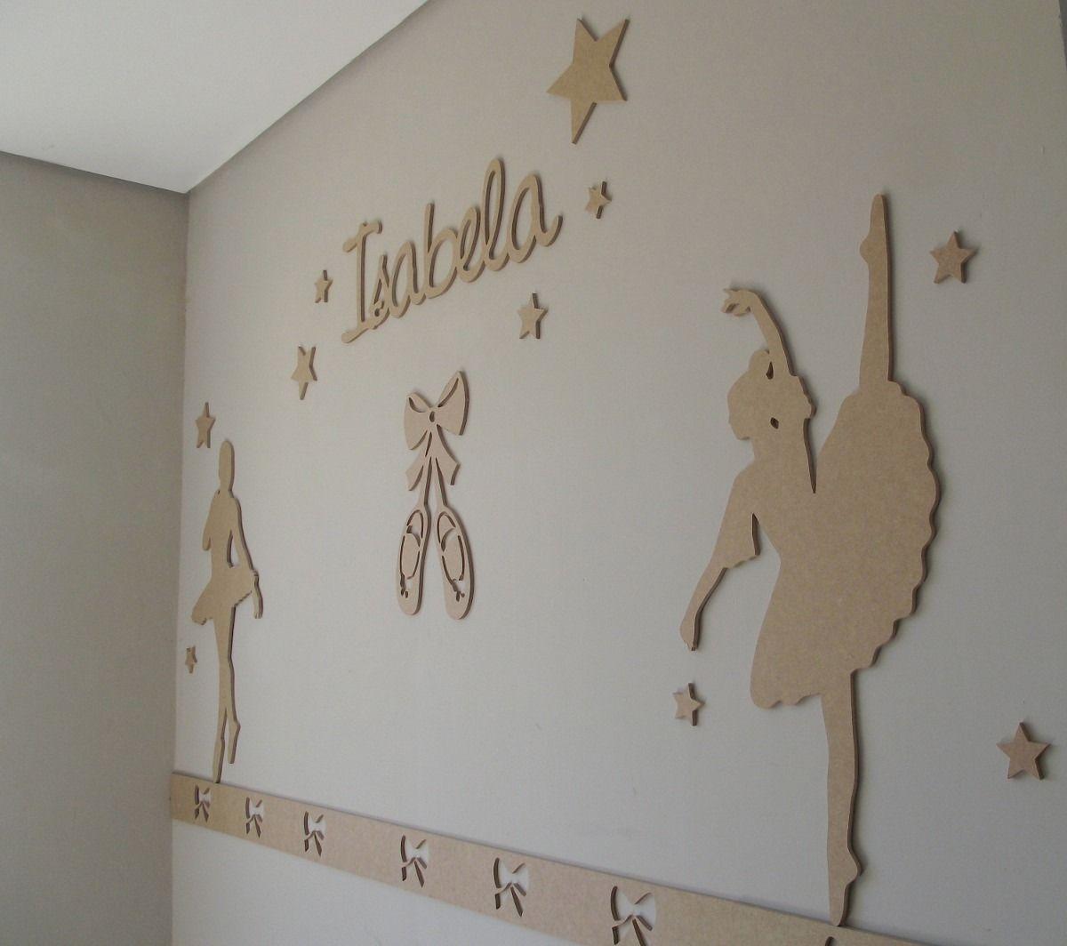 painel bailarina de decoração para quarto bebê mdf cru 6mm  interressantes