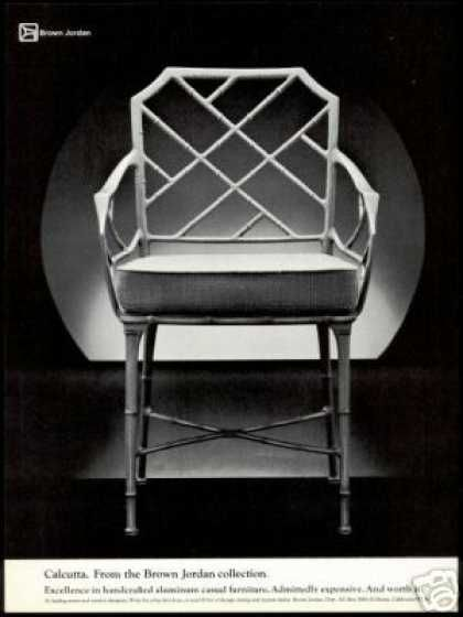 Brown Jordan Calcutta Chair Vintage Photo (1978)