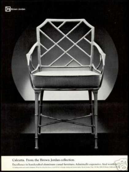 Brown Jordan Calcutta Chair Vintage Photo (1978)
