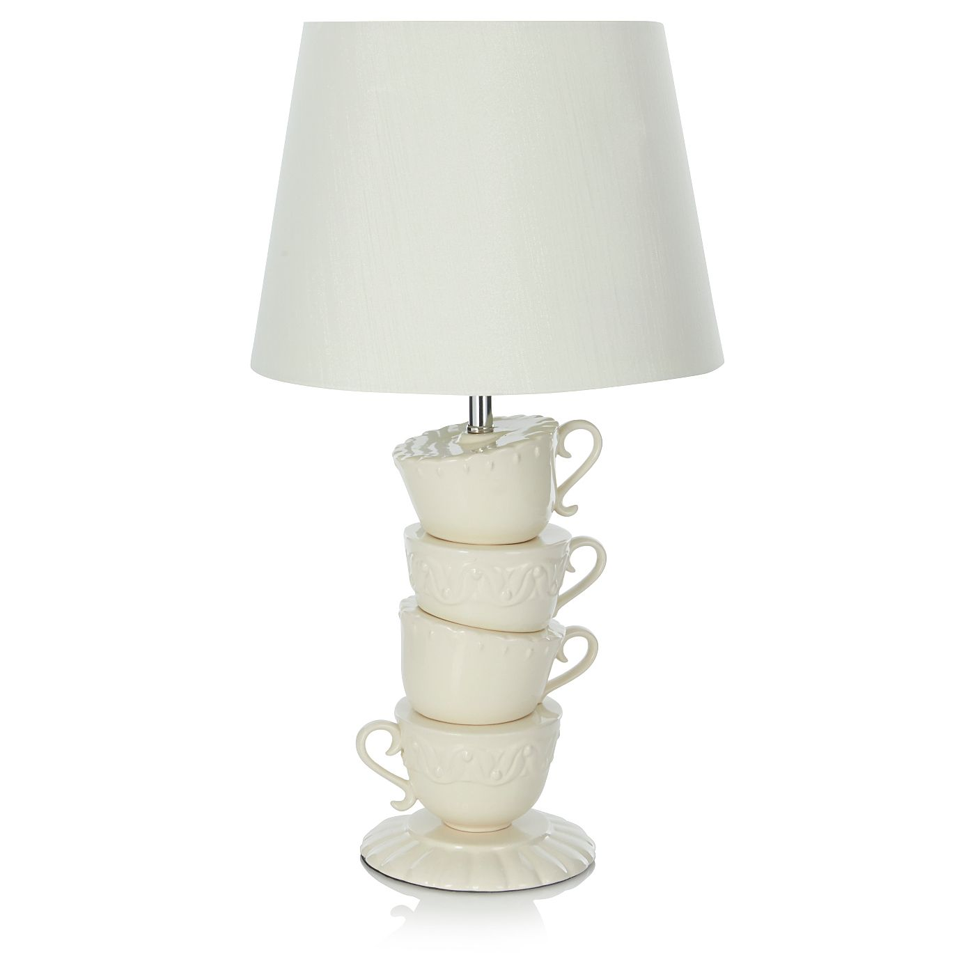 George Home Teacup Lamp Cream Lighting Asda Direct Home  # Muebles Pikeando