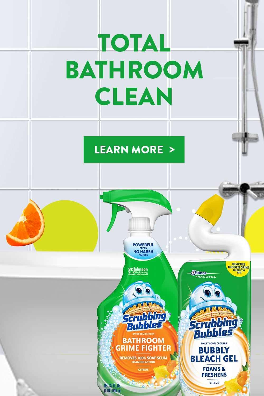 Scrubby S So Happy He Could Pop Why S That Because His Full Bathroom Collection Cleans From Tub To Toilet Diy Cleaning Hacks Cleaning Hacks Cleaning