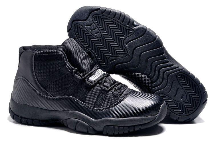 9a7e9d4e675 2015 June Discount Shoes 136046 016 Air Jordan 11 All Black Carbon Fiber Nike  Air Max