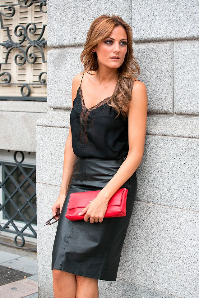IMG_7154 Tight leather pencil skirt | Leather fashion and Black ...