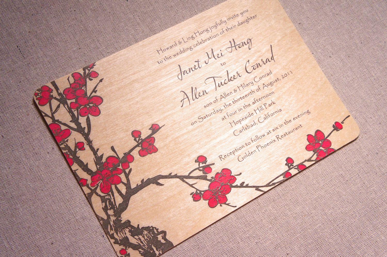 Real Wood Wedding Invitations: Real Wood Wedding Invitation