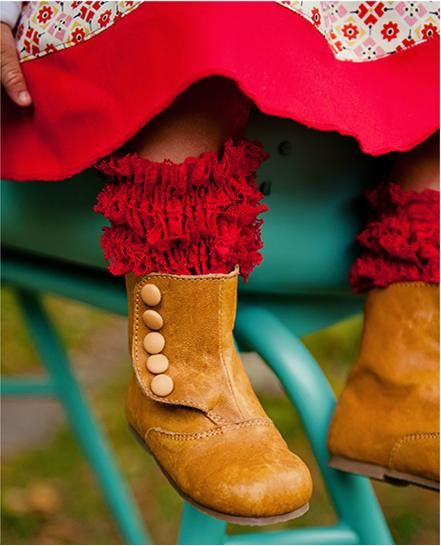 Boot Toppers - Boot Cuffs - Girls Laced Ruffled Toppers - Leg warmers. $6.00, via Etsy.