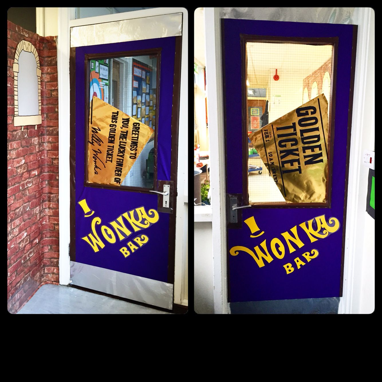 willy wonka chocolate classroom door from charlie and the