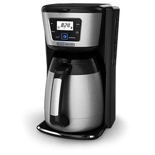 BLACK DECKER 12 Cup Thermal Coffeemaker Black Silver 12 Cup