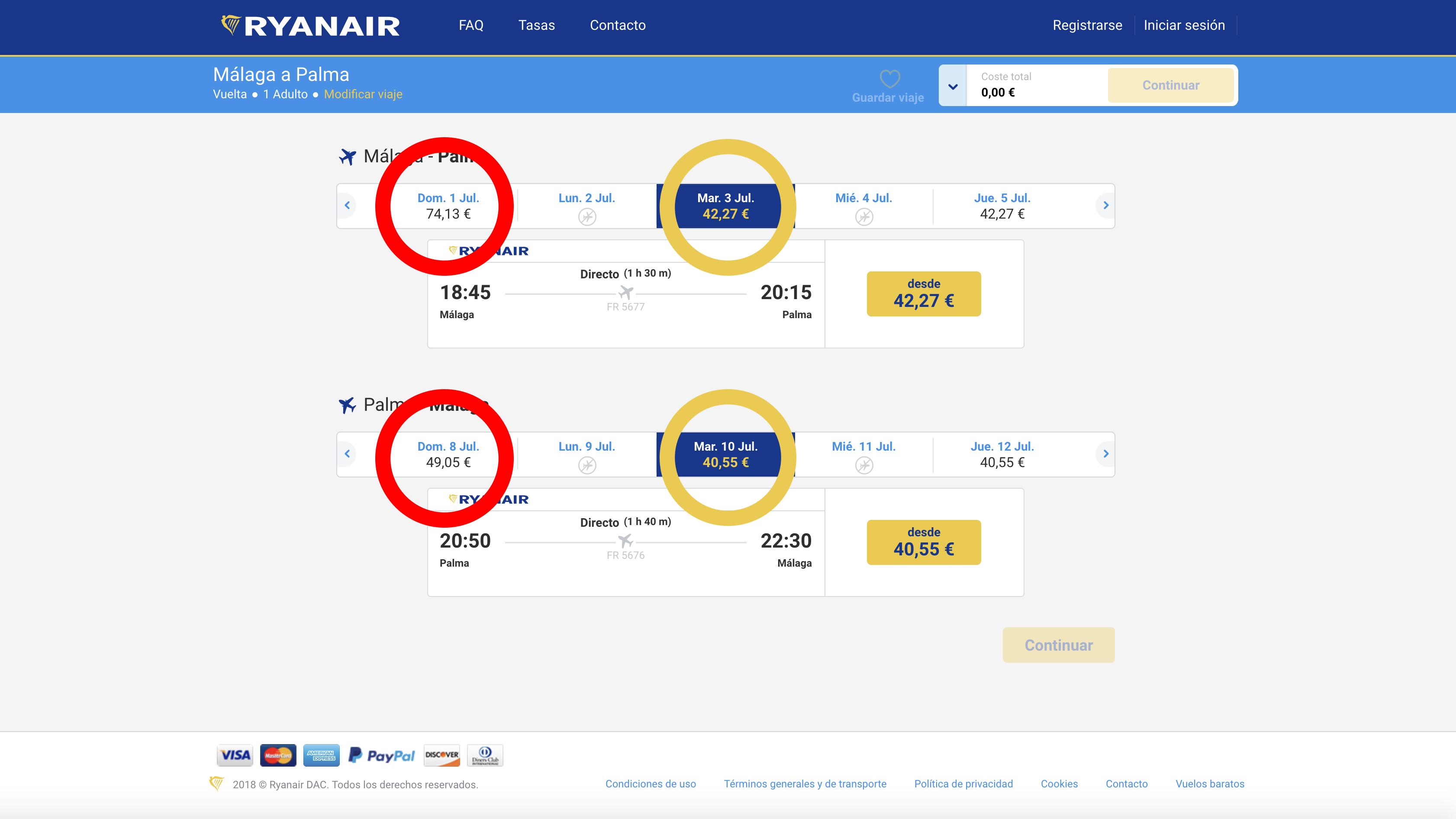 Conseguir vuelos baratos con Ryanair