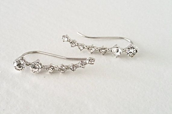 FREE SHIPPING Silver Gold Pave Crystal Nesting Stone