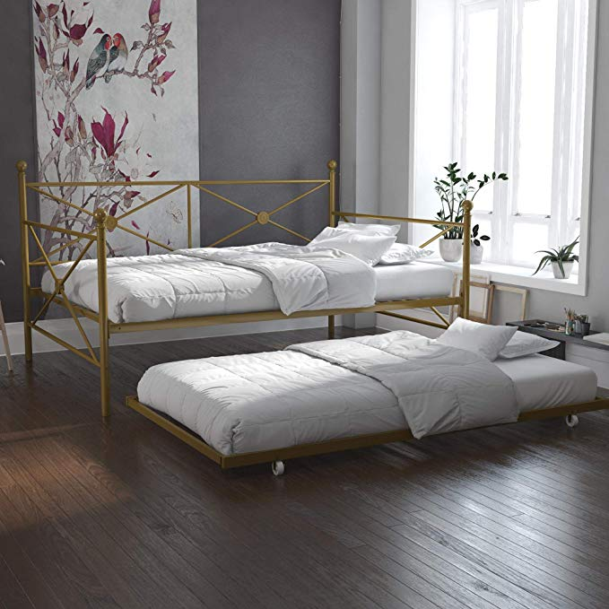 Amazon Com Dhp Daybed With Trundle Full Gold Gateway With