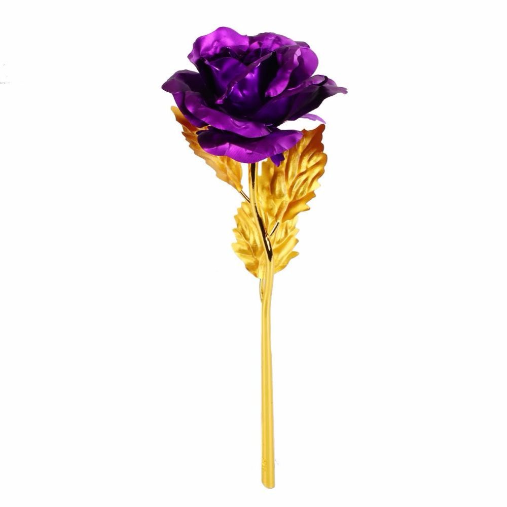 5 Colors Romantic 24K Golden Rose Flower Gold Foil Plated Artificial Wedding Festive Party Valentine's Day Gift Without Box-in Artificial & Dried Flowers from Home & Garden on Aliexpress.com | Alibaba Group