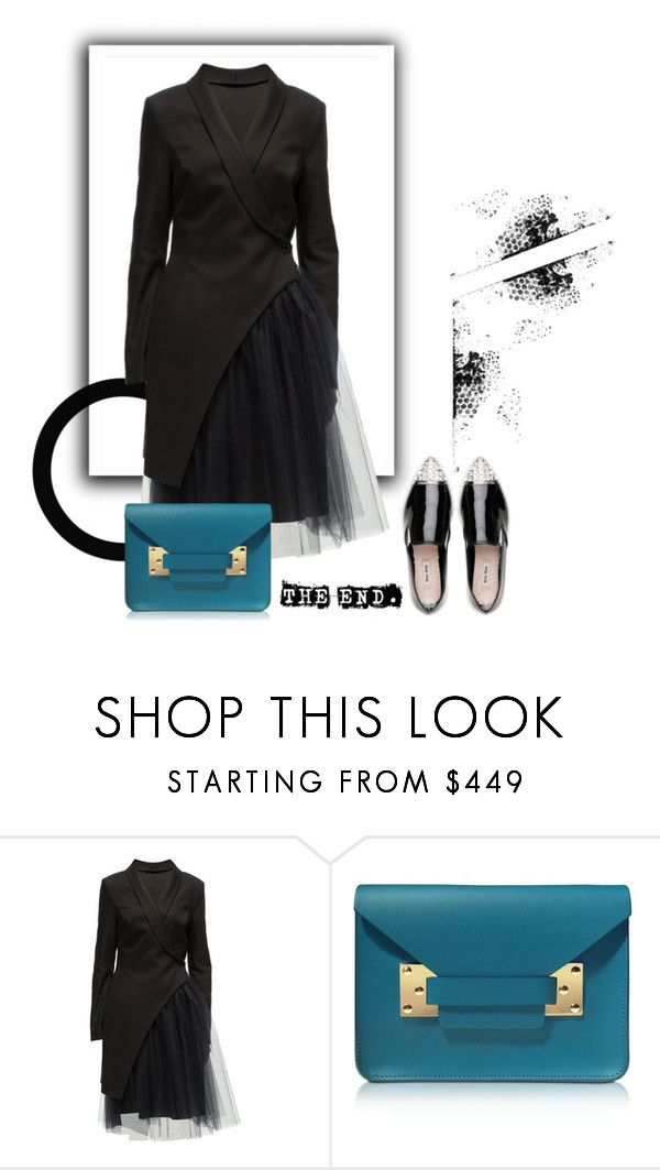 """""""Teal & Black"""" by bjigg ❤ liked on Polyvore featuring Lattori, Sophie Hulme and Miu Miu"""