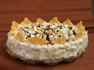 Narancsos tejberizses torta Zila tortaformában