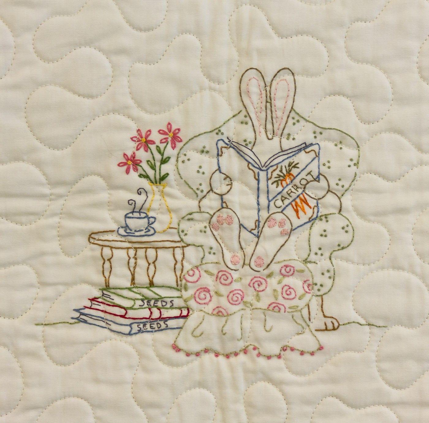Quilt Pattern - Honneybunny\'s Garden Quilt - Crabapple Hill Studio ...