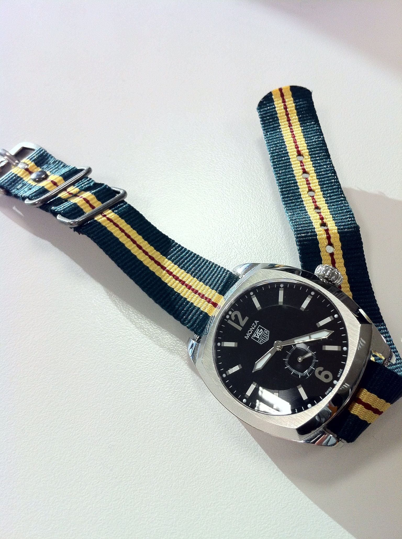 TAG - Heuer Monza automatic watch with NATO strap from ...