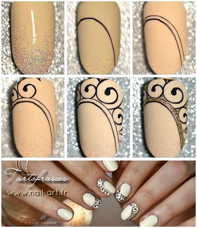 Step by Step en détail sur mon blog www.nail-art.fr #tartofraises ...