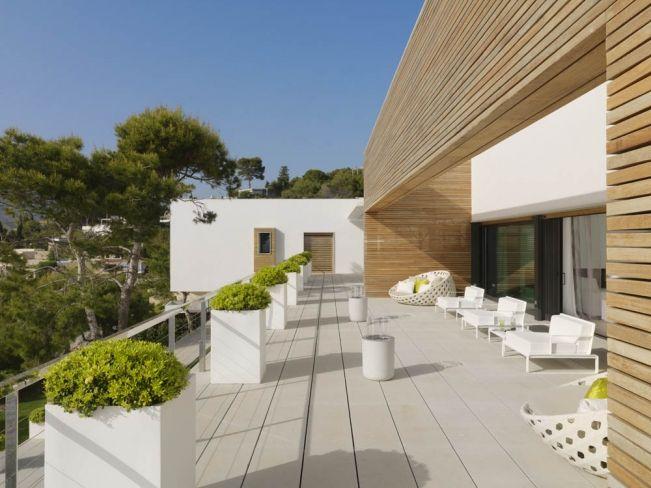 Maison Contemporaine Blanche Avec Bardage Bois | Bardage Bois
