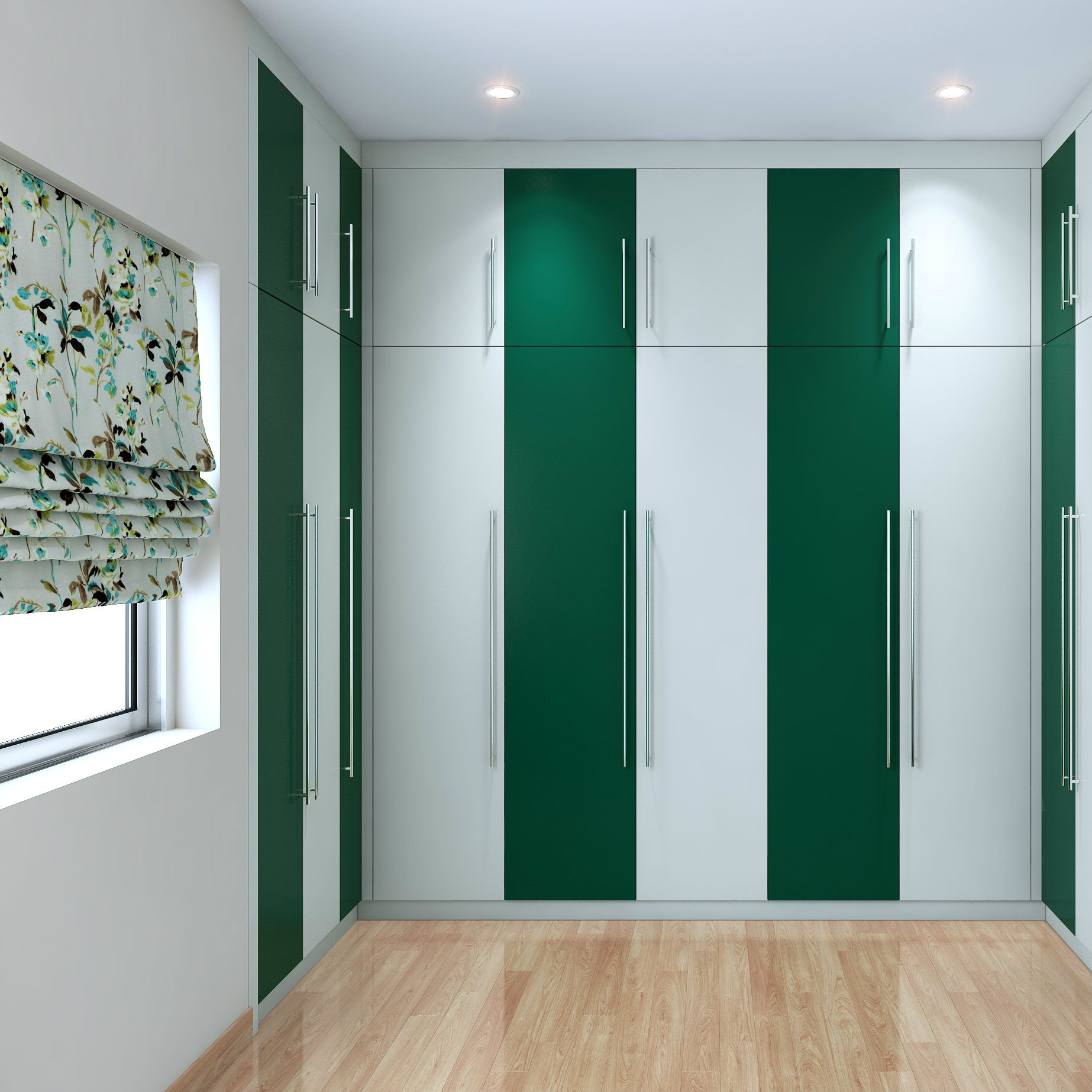Best A White And Green Striped Modular Wardrobe For A Quirky 400 x 300