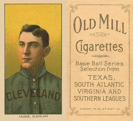 1909 White Borders Old Mill Nap Lajoie 269 Baseball Card
