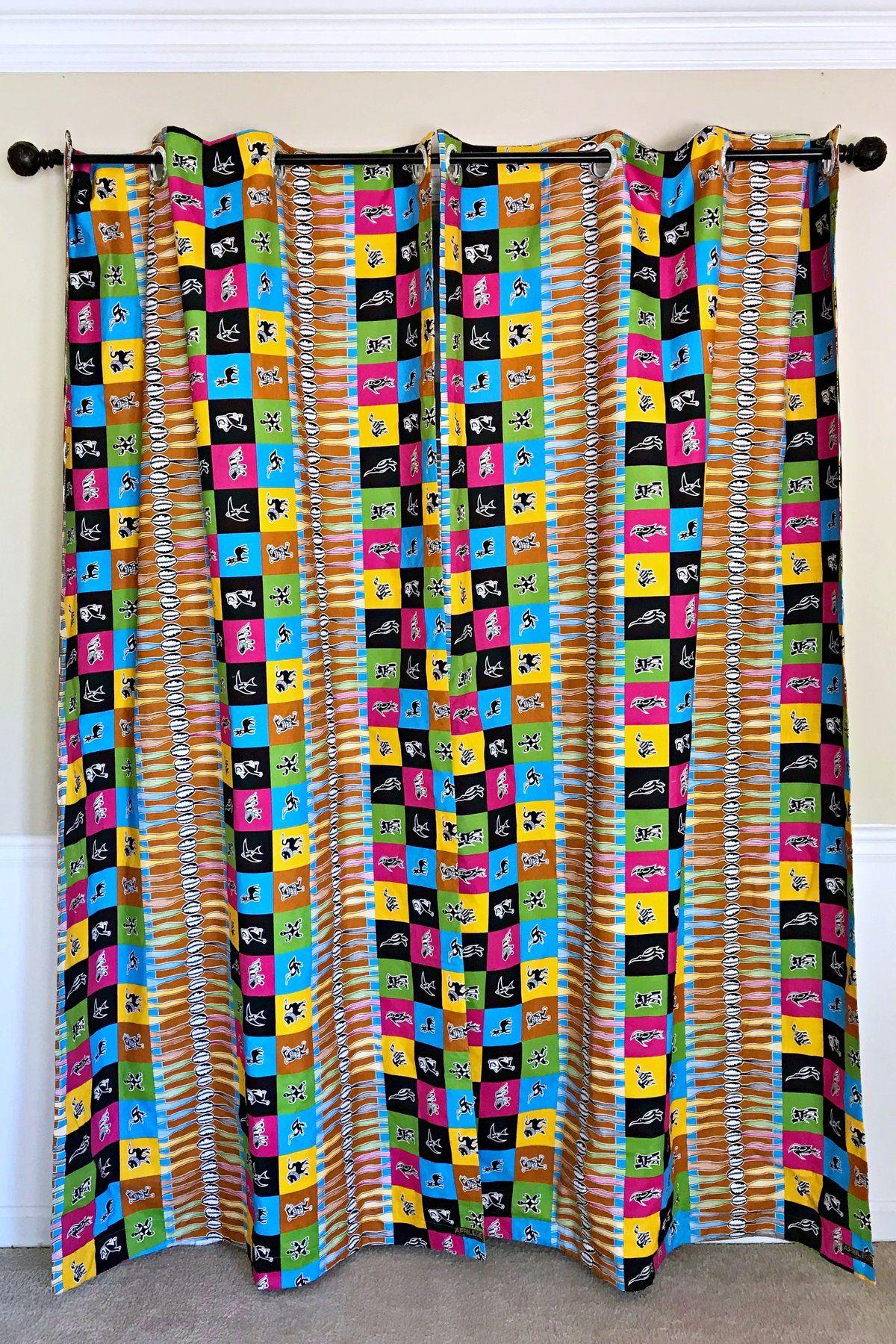 Lulu Double Sided Reversible Grommet Top African Print