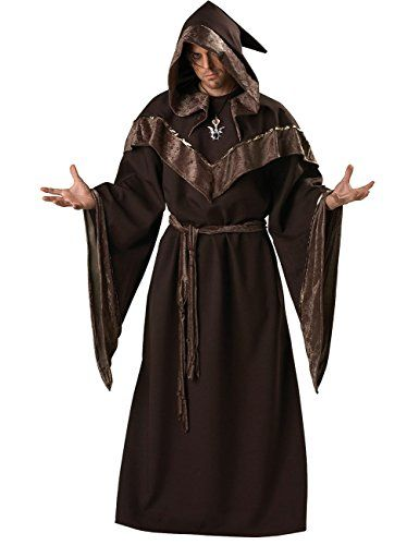 YesFashion Men Halloween Costume Wizard Medieval Monks Priest Robe Cloak -- Check this awesome product by going to the link at the image.  sc 1 st  Pinterest : priest robe costume  - Germanpascual.Com