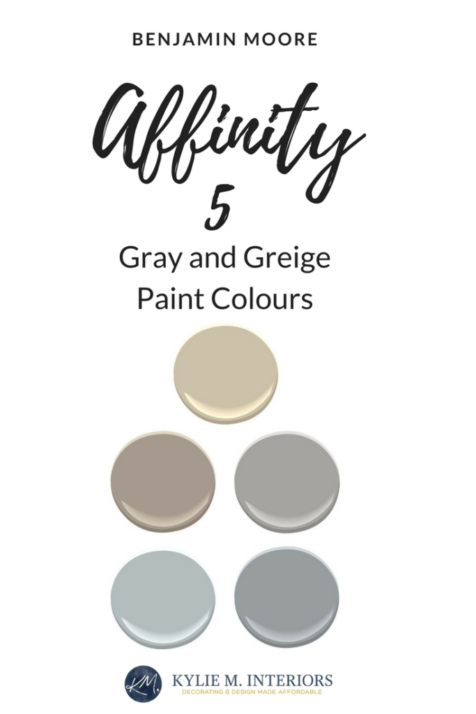 Benjamin Moore Affinity The Best Neutral Beige Gray Paint Colours