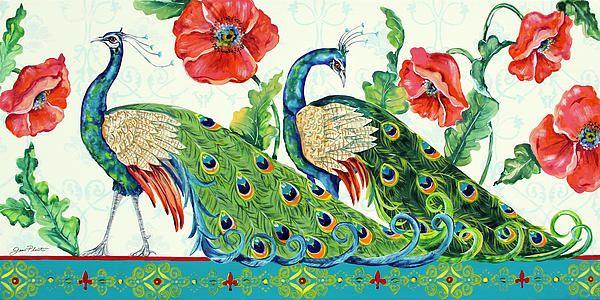 I uploaded new artwork to fineartamerica.com! - 'Peacocks In The Garden' - http://fineartamerica.com/featured/peacocks-in-the-garden-jean-plout.html via @fineartamerica