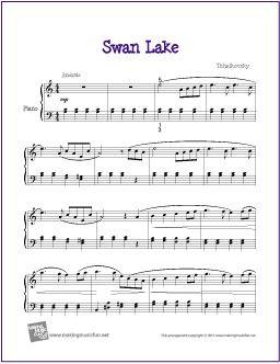 Swan Lake Intermediate Free Sheet Music For Piano Scheduled