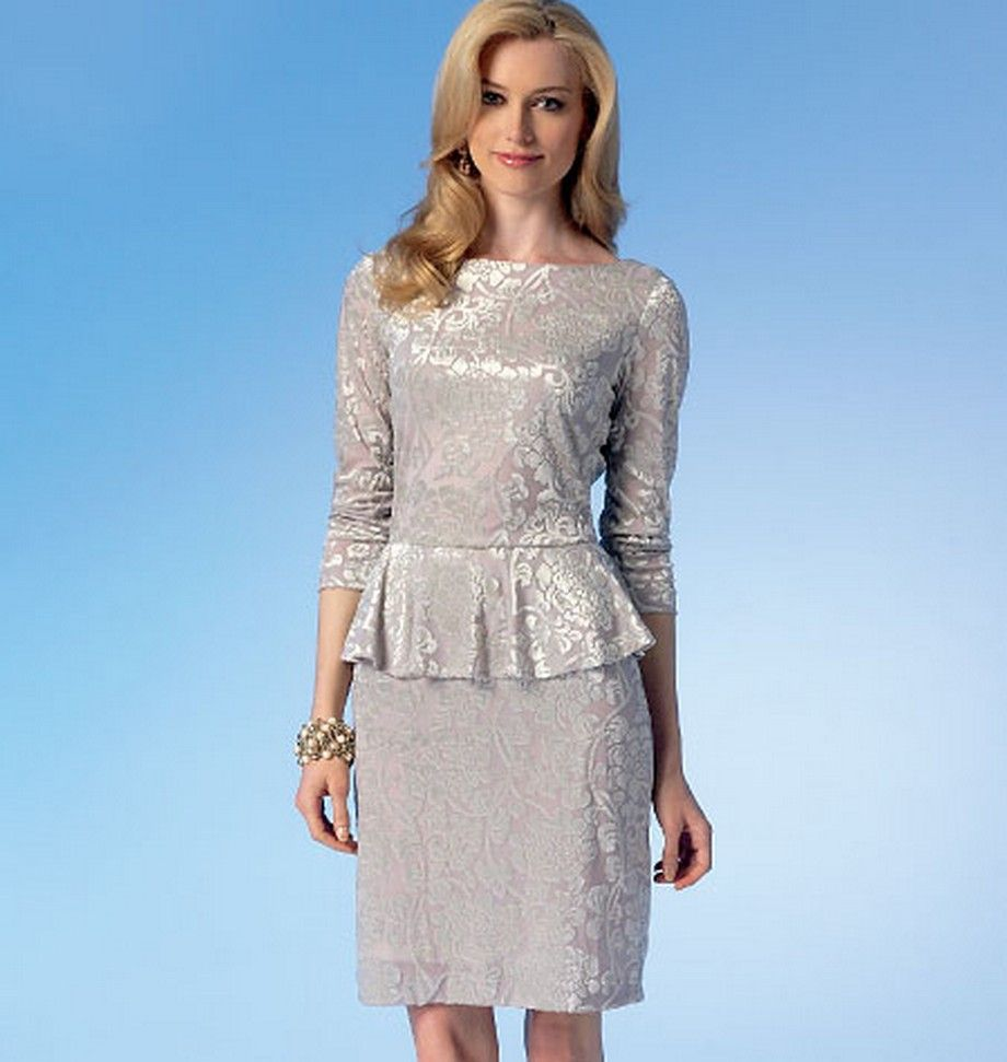 McCalls-7047 Misses\' Dresses. Lined, pullover dresses with peplum ...