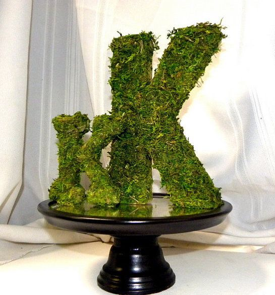 """Moss Covered Letters Awesome 4"""" Moss Covered Letter Or Numberwedding Table Decorwoodland 2018"""