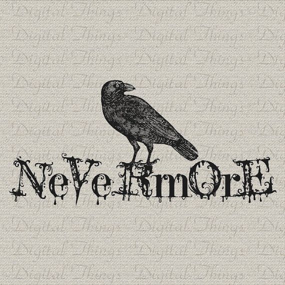Halloween Gothic Grunge Edgar Allan Poe The Raven Bird Nevermore ...