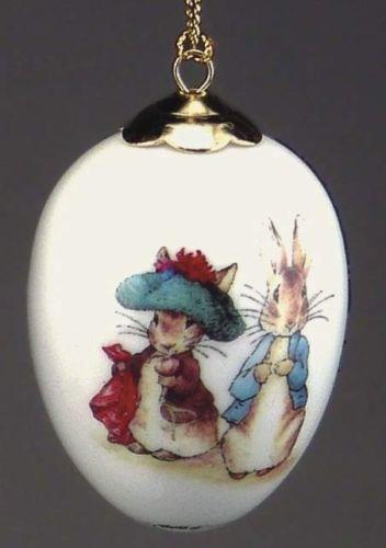 Beatrix Potter Porcelain hanging Egg Ornaments Various designs