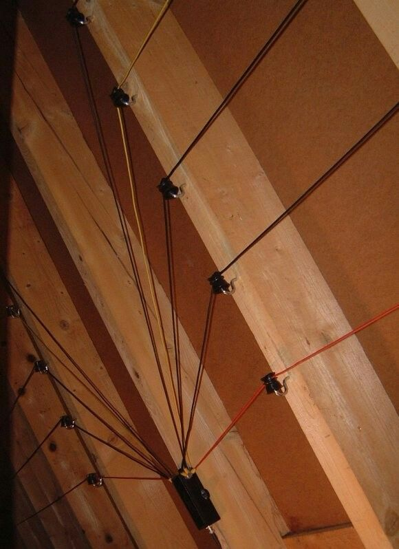 Attic Multi Band Dipole Ham Radio Antenna Ham Radio Diy Tv Antenna