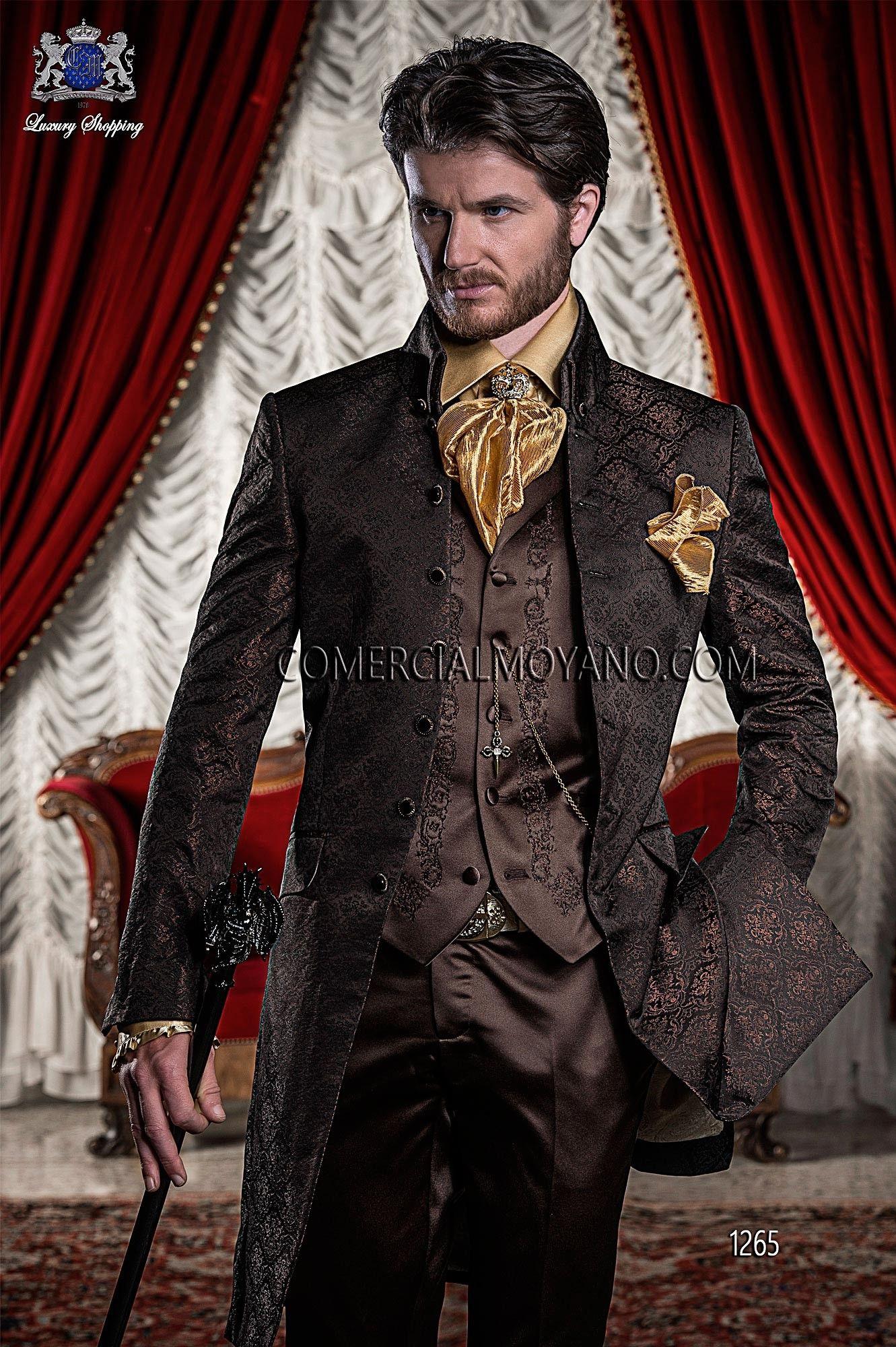 latest trends on sale online huge inventory Baroque Italian black/copper wedding suit   Victorian ...