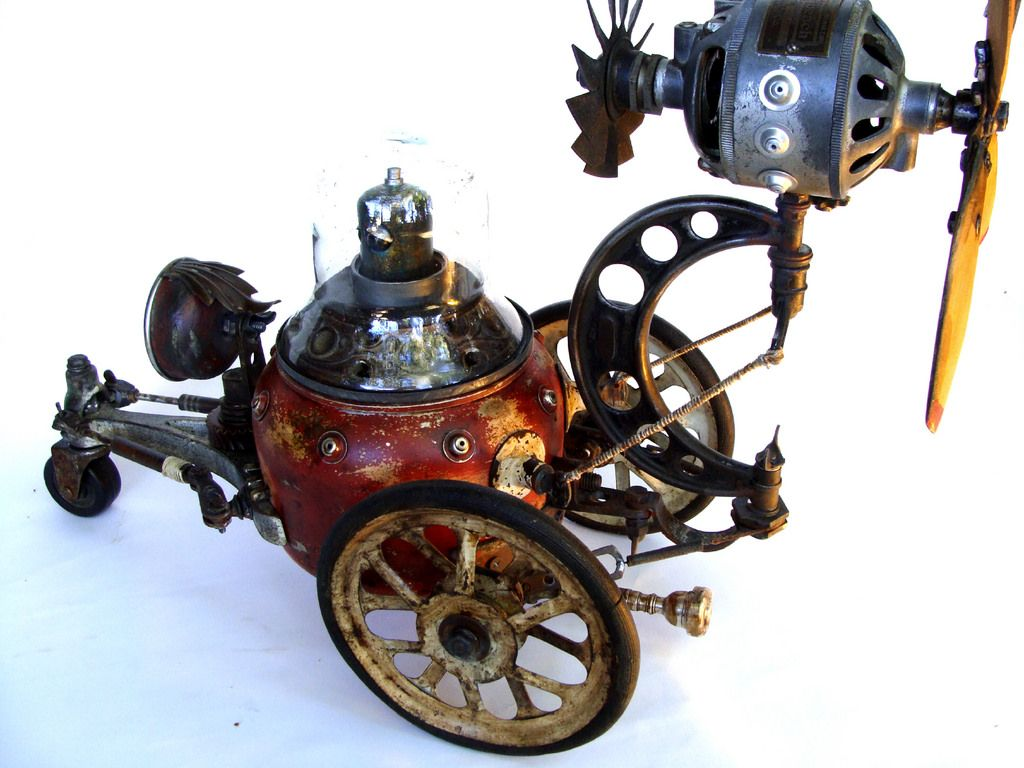 Junkbot steampunk car